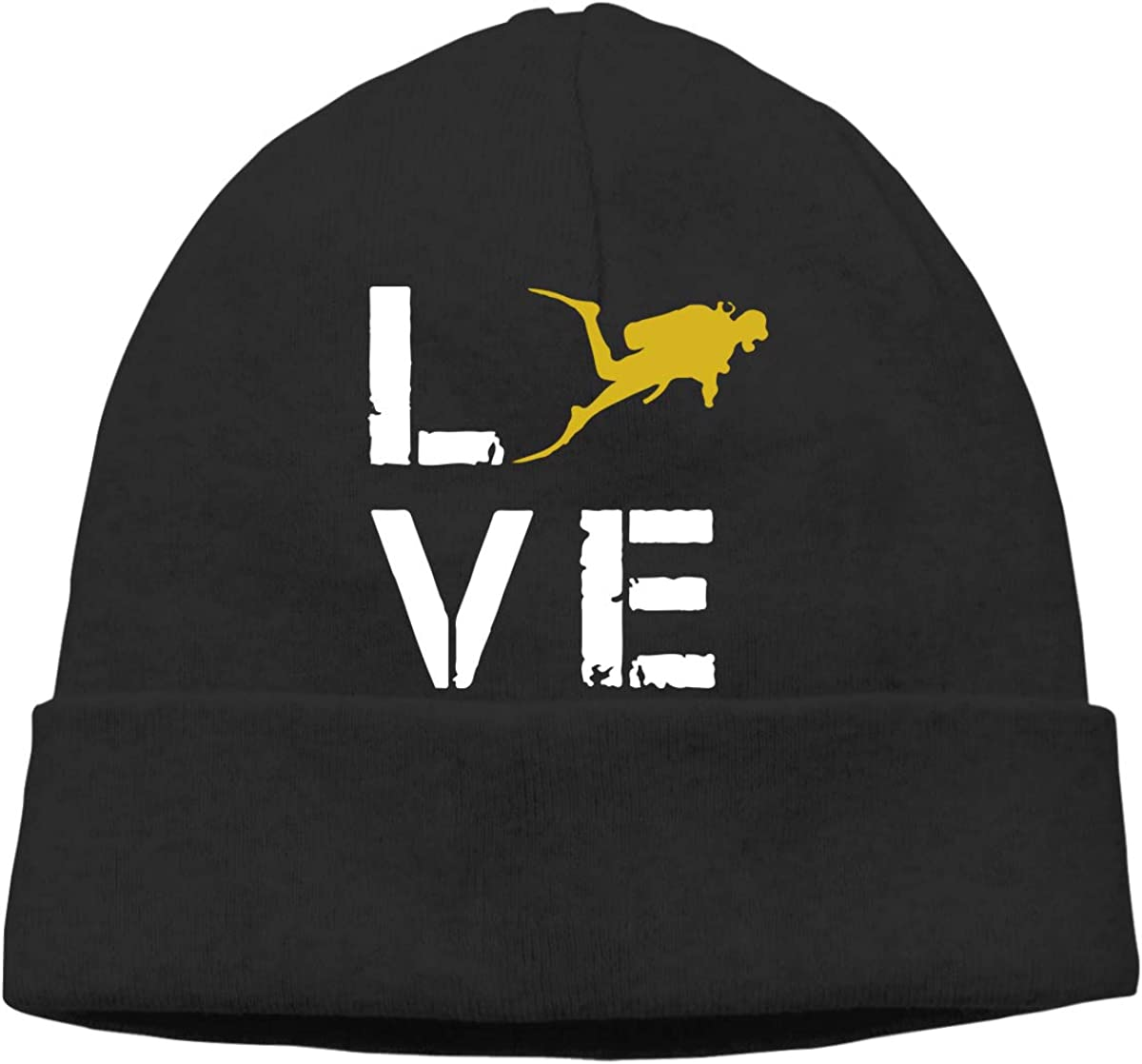 Love Scuba Diving Men /& Women Knitting Wool Warm Sports Beanie Hats