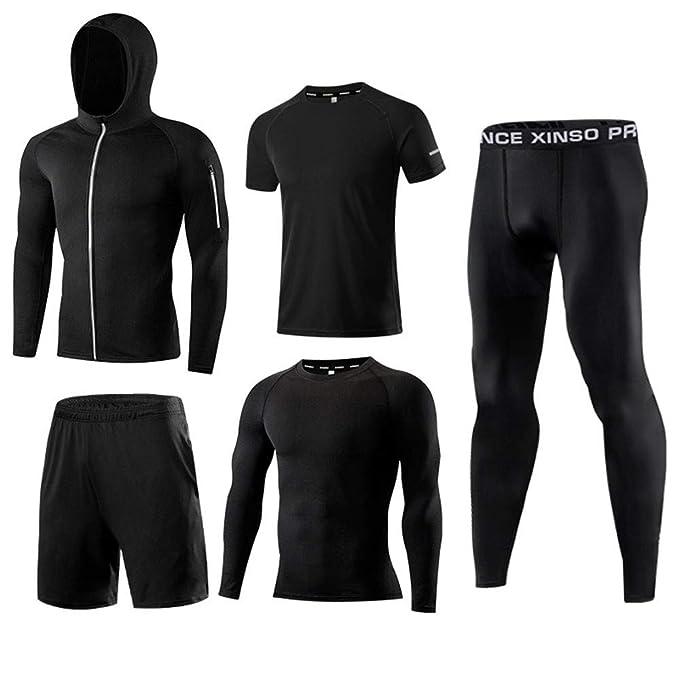 Amazon.com: 5 piezas de pantalones de compresión para hombre ...