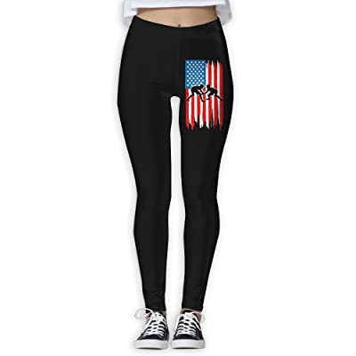 DDCYOGA Wrestling Flag Women's Tights Activewear Yoga Leggings Dance Athletic Sport Leggings For Women