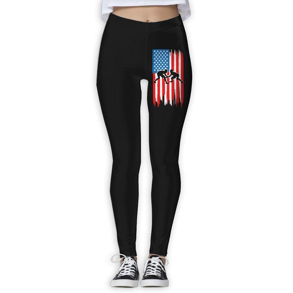 DDCYOGA Wrestling Flag Women's Tights Activewear Yoga Leggings Dance Athletic Sport Pants For Girls