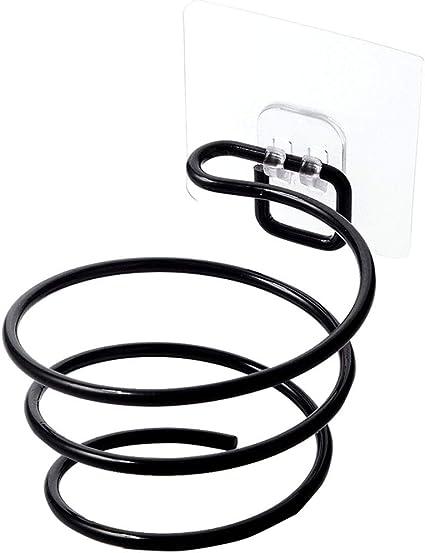WINBST f/öhn Halterung Haartrockner-Halter Spirale Schlag-Trockner-Halter Abnehmbar Halterung haartrocknerhalter f/önhalter ohne Bohren Bad