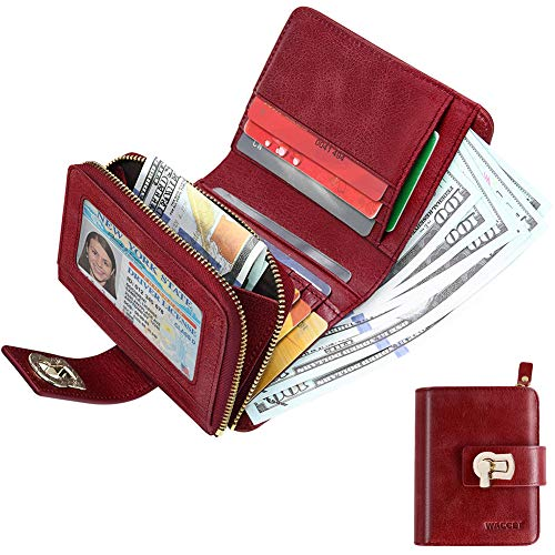 HUANLANG Womens Wallet Trifold RFID Blocking Ladies Leather Wallets with Coin Zipper Multi Card Wallets for - Quality Leather Wallet