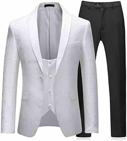 2cca63dac Boyland Mens 3 Piece Tuxedos Vintage Groomsmen Wedding Suit Complete  Outfits(Jackets+Vest+