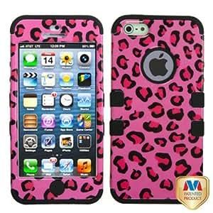 Viesrod - MYBAT IPHONE5HPCTUFFIM005NP Premium TUFF Case for iPhone 5 - 1 Pack - Retail Packaging - Pink Leopard/Black
