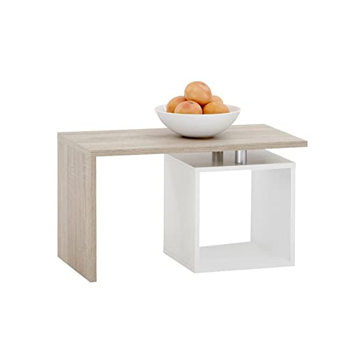 18 opinioni per FMD Model 627-001- Tavolino basso a L, con scompartimento a giorno, colore: