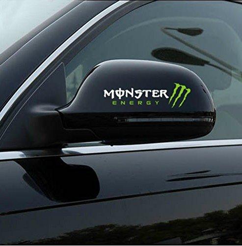 Amazon com 2 pcs monster 3d car rearview mirror decal stickerwhite automotive