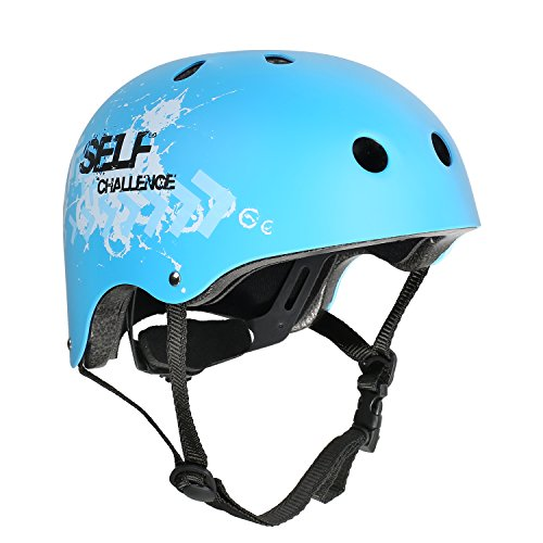 VOKUL Skate Helmet CPSC ASTM Certified Impact Resistance Ventilation for Kid/Youth/Adult Skateboarding Inline Skating Cycling and Other Outdoor Sports (Blue, M) (Helmet Cpsc Skate)