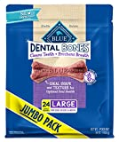 Blue Dental Bones Adult Large Dental Chew Dog Treat 36-oz Value Pack, 24 Count, Packaging may vary