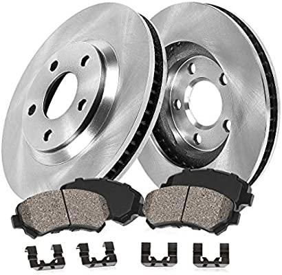 2002 Audi A4 w//312mm Front Rotor Dia OE Replacement Rotors w//Metallic Pads F