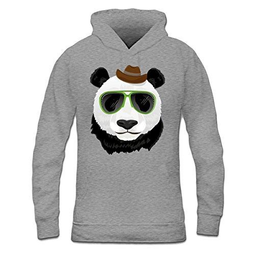 Sudadera con capucha de mujer Hipster Panda by Shirtcity Gris granulado