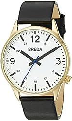 Breda Men's 7017A Analog Display Japanese Quartz Black Watch