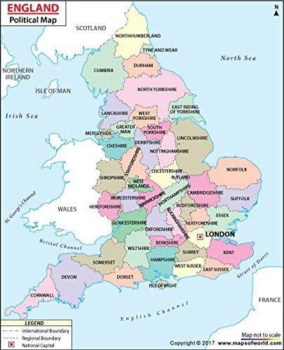 Mapa político de Inglaterra (36