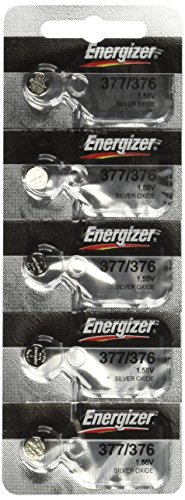 377 Energizer 1.55 Vcc Silver Oxide Watch Battery (Value Pack of 15)