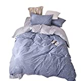 [Newest Arrival] Star Space Constellation Duvet Cover Queen Stripes Comforter Cover Quilt Cover Reversible Bedding Collection with Hidden Zipper