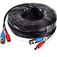 SANNCE Special Design 30M / 100 Feet BNC Video Power Cable For HD CCTV Camera DVR Security System (Black)
