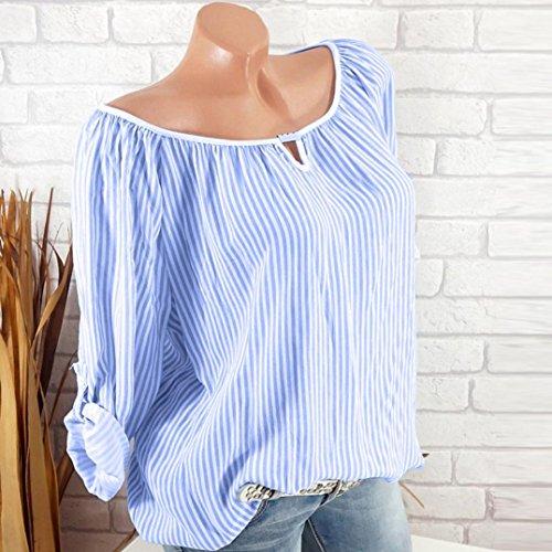 Ajour Tops Sexy Femmes Blouse Roll up Manches Cher Mode V QinMM Pas Shirt Slim Chemisier Pullover Automn Grande Dames Manche S Longues Taille Col T Ray Chic Haut Ciel Bleu lgant XXXXXL YqrYBxO
