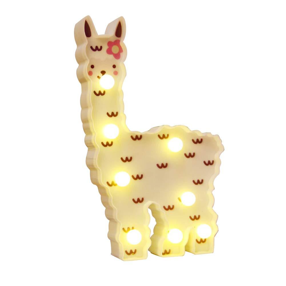 WHATOOK Llama Night Light Kids Gifts Alpaca Lights Wall Decoration for Girls Room,Bedside,Home (White Llama Cloud)