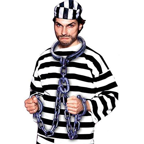 Silver Prisoner Shackles Costume Accessory