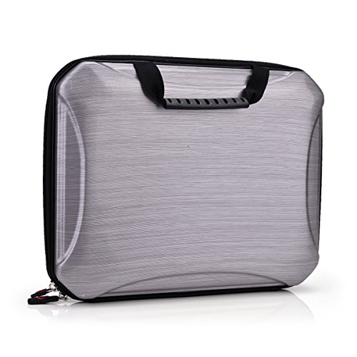 Brushed Metal Finish Case - Large Semi Hard EVA Briefcase