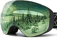 XCMAN Ski Snowboard Goggles UV Protection Anti Fog Snow Goggles for Men Women Youth