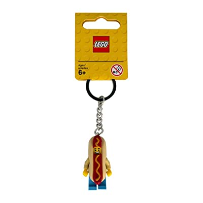 LEGO Hot Dog Guy Key Chain (853571): Toys & Games