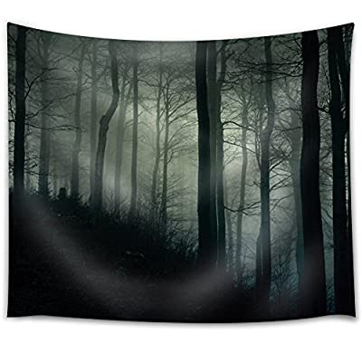 Alluring Design, Dark Forest on a Hill Covered with Fog, Created Just For You