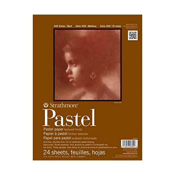 Strathmore-400-Series-Pastel-Pad-Assorted-Colors-9×12-Glue-Bound-24-Sheets
