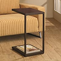 1PerfectChoice Dark Brown Contemporary Snack Table