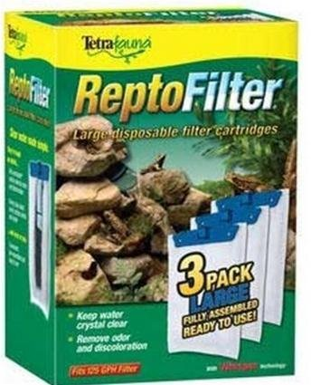 [Pet Tetra ReptoFilter 125 GPH, 3-Pack, Large Cartridge, tetra pond filter. Repto filters Supply Store/Shop by Supply-Shop] (125 Aquarium)