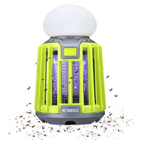 ENKEEO 2-in-1 Camping Lantern Bug Zapper LED Tent Light UV Mosquito Killer Portable Lamp
