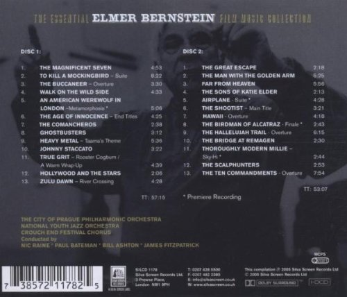The Essential Elmer Bernstein Film Music Collection by SILVA SCREEN MUSIC