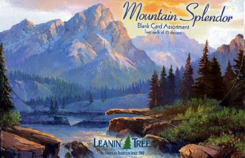 Full Assortment - Mountain Splendor - Blank Card Assortment by Leanin' Tree (AST90648) - 20 cards with full-color interiors and 22 full-color envelopes