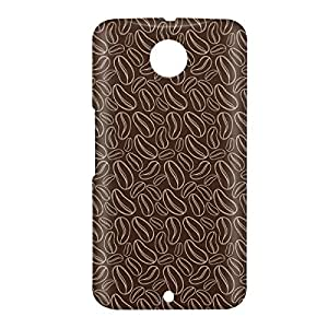 Loud Universe Nexus 6 Coffee Beans Print 3D Wrap Around Case - Dark Brown