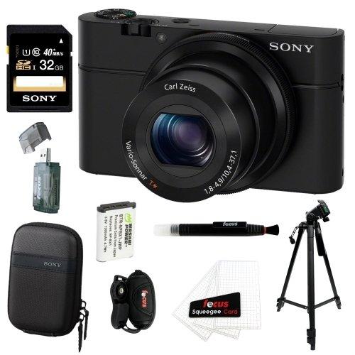 Sony DSC-RX100 Digital Camera with 32GB Premium Deluxe Acces