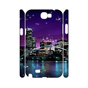 SYYCH Phone case Of City Lights Cover Case For Samsung Galaxy Note 2 N7100