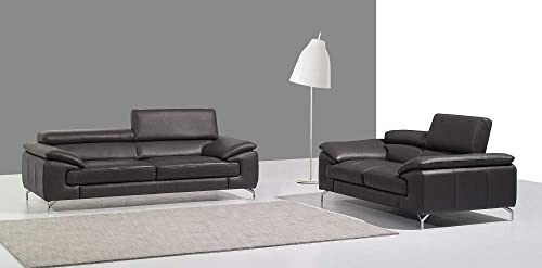 J M Furniture A973 Italian Leather Sofa