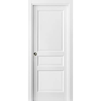 free shipping 4fc22 1c5bc 3 Panel Pocket Door 36 x 80 with Frames | Lucia 31 Matte ...