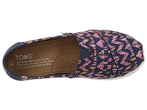 TOMS Youth Alpargata Novelty Textile Espadrille, Size: 4.5 M US Big Kid, Color Fuchsia Colorful - Image 8