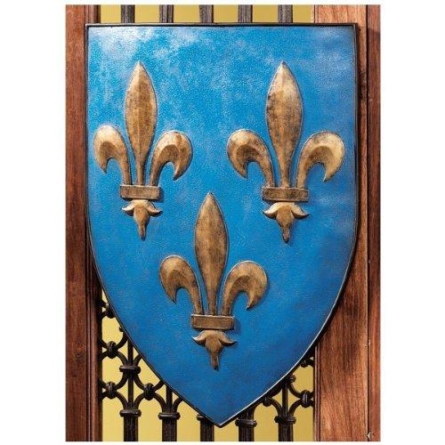Shields Wall Sculpture (Design Toscano Grand Arms of France Wall Shield Collection- Fleur-de-Lis Shield)