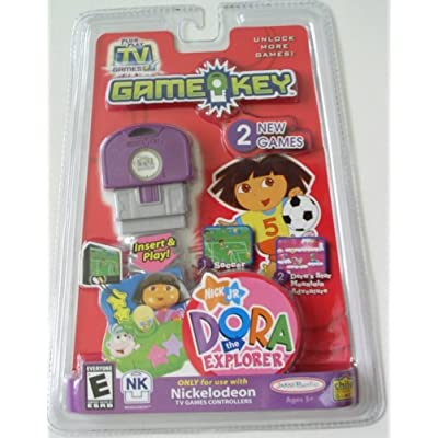 Jakks Pacific Plug It in & Play Nick Jr. Dora The Explorer Gamekey with Soccer & Dora's Star Mountain Adventure, NK: Toys & Games