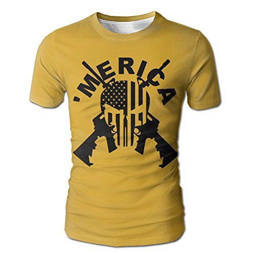 Vcddjns4 Merica Men's O-Neck T-Shirt Short Sleeve Baseball Jersey Top -