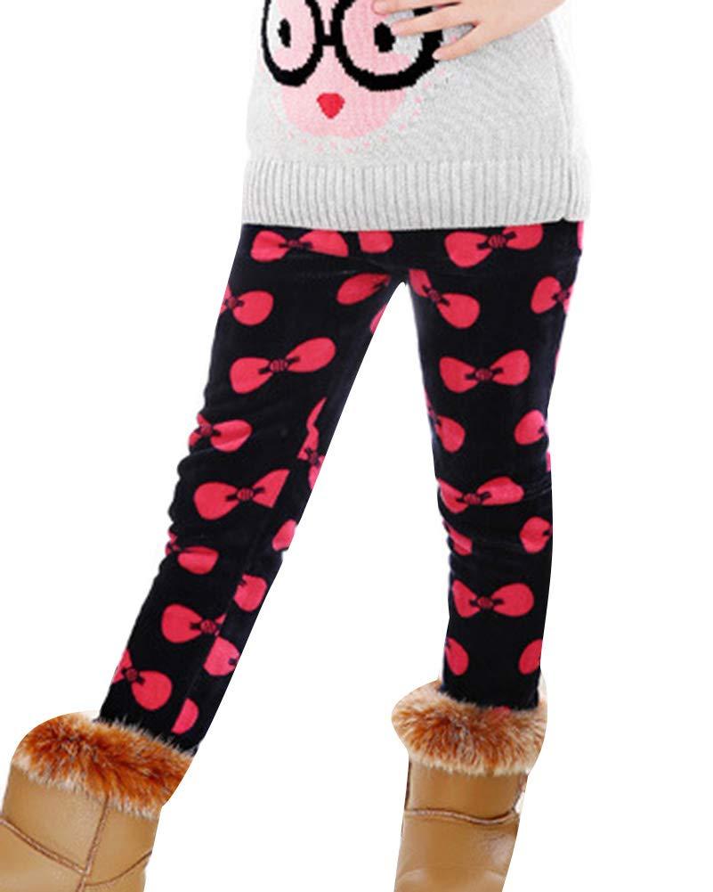 GladiolusA Ragazze Inverno Leggings Bambini Stampa Pantaloni Termici Addensare Caldo Leggins Jeggings
