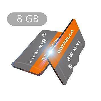 Tarjeta Micro SD, Yapeach 8 GB/16 GB/32 GB/64 GB/128 GB Tarjeta de Memoria Flash, Clase 10 TF Tarjeta para teléfonos PC Drone cámara Coche VCR Beige 8 ...