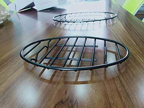GOURMEX Oval Roasting Rack with Integrated Feet, Black, Non-Stick Whitford Coating, PTFE Free, Oven and Dishwasher Safe. Ideal for Cooking, Roasting, Drying, Grilling (8.5 x 12) (12x8.5)