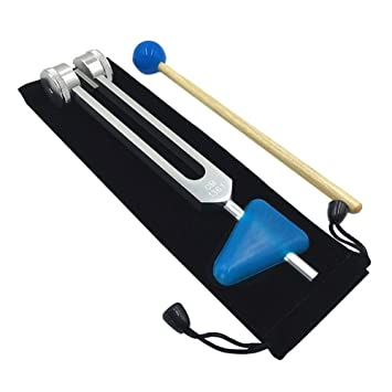 136.1Hz OM Tuning Fork con martillo de silicona, Tratamiento ...