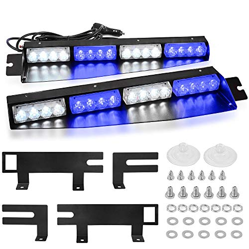 white and blue emergency lights - 1