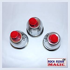 Rock Ridge Magic Aluminum Cups and Balls Trick, 3 Cups, 4 Balls