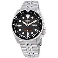 Seiko Divers Black Dial Stainless Steel Band Men's Watch SKX007P8