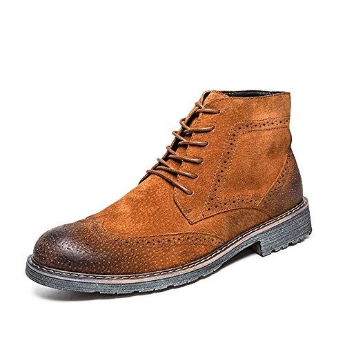 Classic 41 Traspirante 2018 Caviglia Lavoro Stile Giallo Alla Eu color Uomo Giallo Xujw Uomo Da Brogue Dimensione Casual shoes Stivali Stampa WfWqUvg