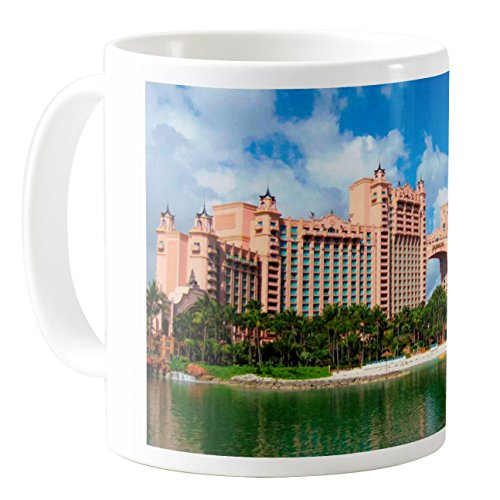 AquaSakura - Atlantis Paradise Island Bahamas - 11oz Ceramic Coffee Mug Tea Cup